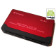 All in one Card Reader 6 Port Red Card Readers