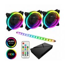 Game Max ARGB Fan Hub + Strip kit 3 x Velocity Fans 1 x Viper strip 1x Hub RTB Case Fans