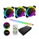 Game Max ARGB Fan Hub + Strip kit 3 x Velocity Fans 1 x Viper strip 1x Hub RTB Case Fans