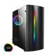 CiT Beam MATX Gaming Case Rainbow RGB Strip 1 x Rainbow RGB fan Acrylic Side Cases
