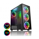 CiT Raider Gaming Case 4 x Halo Spectrum RGB Fans Glass Front and Side MB SYNC Cases
