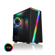 Seven MATX Gaming Case Rainbow RGB Strip 1 x Rainbow RGB Fan Acrylic Side Cases