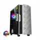 F15G Gaming Case 2x 20cm ARGB Fan 1x 12cm ARGB Fan TG Front+Side MB Sync Cases