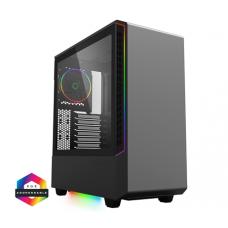 Panda Black ARGB Gaming Case 3x ARGB Strips 1x ARGB fan 1x ARGB Hub Cases