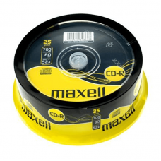 25PK Maxell 52x CD-R Media DVD Media And Accessories