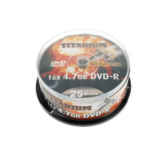 25PK Titanium 16x DVD-R Media DVD Media And Accessories
