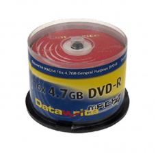 50PK Datawrite 16x DVD-R Media Red DVD Media And Accessories