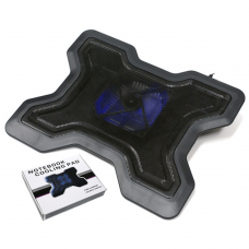 Black Notebook Cooling Stand With Speed Control - Twin Fan Components
