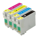 4 X Epson XL Range E-603XLBK/C/M/Y Cartridge 4 Pack Printer Cartridges