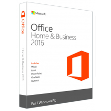 Microsoft Office 2016 Home & Business - License for 1PC Software